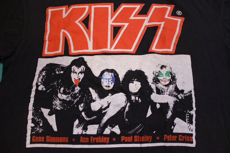 KISS Original Band 90's Vintage Graphic Alive Worldwide 96' 97' Tour T-shirt