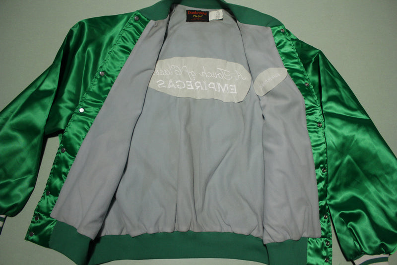 Empire Gas Vintage Deadstock Satin Bomber Coach Jacket 80's