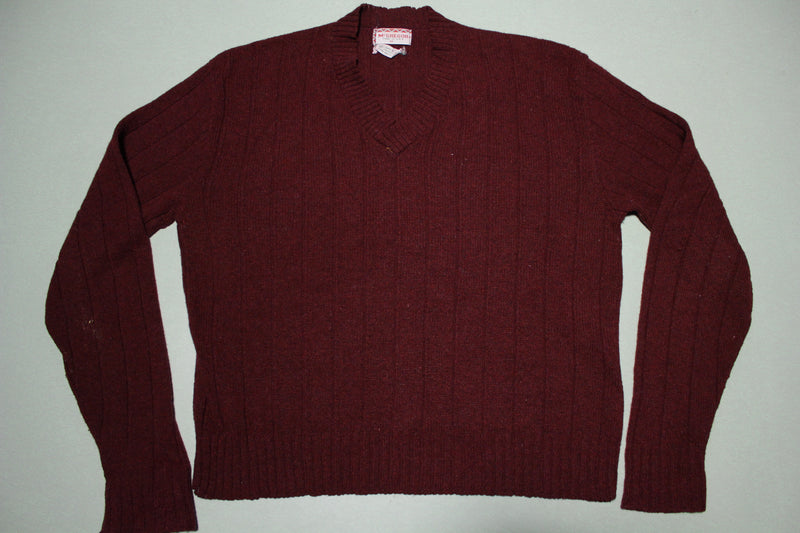 McGregor Vintage 70's V-Neck Made in USA Lambs Wool Sweater