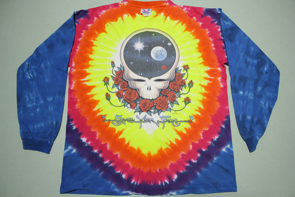Grateful Dead Space Your Face 1992 Vintage 90s Tie Dye Long Sleeve T-Shirt