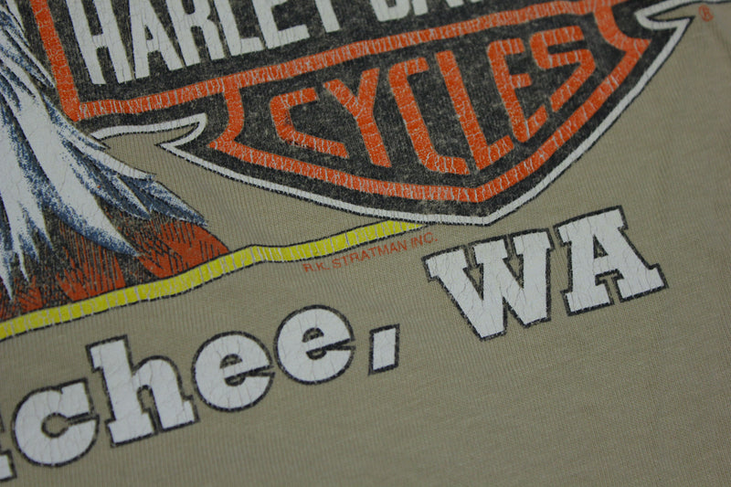 Genuine Harley Davidson Accept No Substitutes Vintage 1996 90's Single Stitch USA T-Shirt