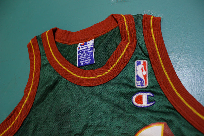 Shawn Kemp Champion Seattle Sonics Basketball Jersey 90's Youth Size