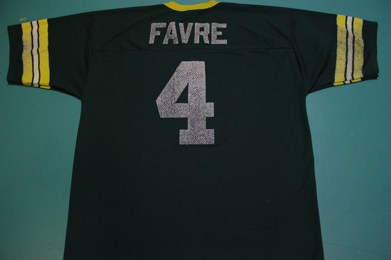 Green Bay Packers Brett Favre Logo 7 Football Jersey Vintage 90s