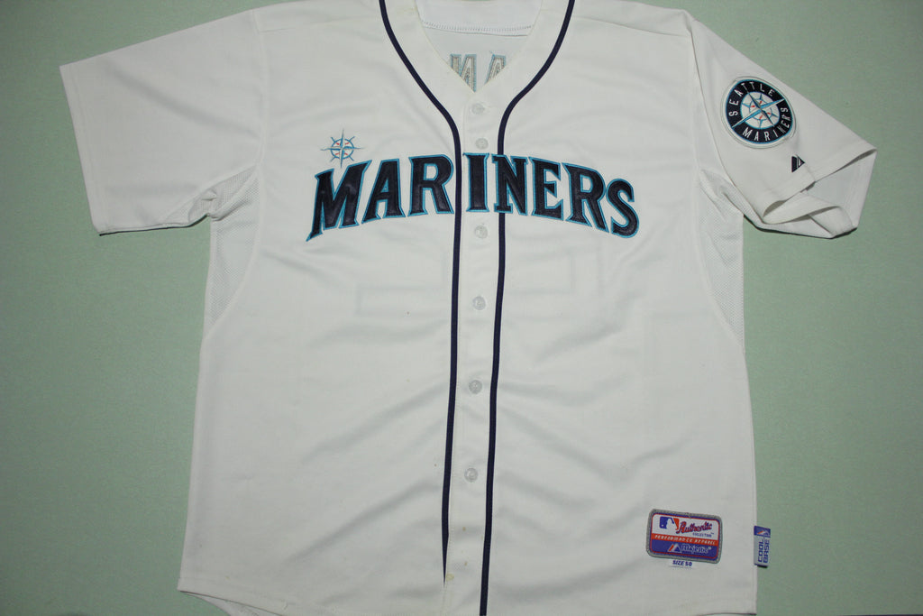 Seattle Mariners Robinson Cano 22 Majestic Cool Base Authentic MLB Jersey
