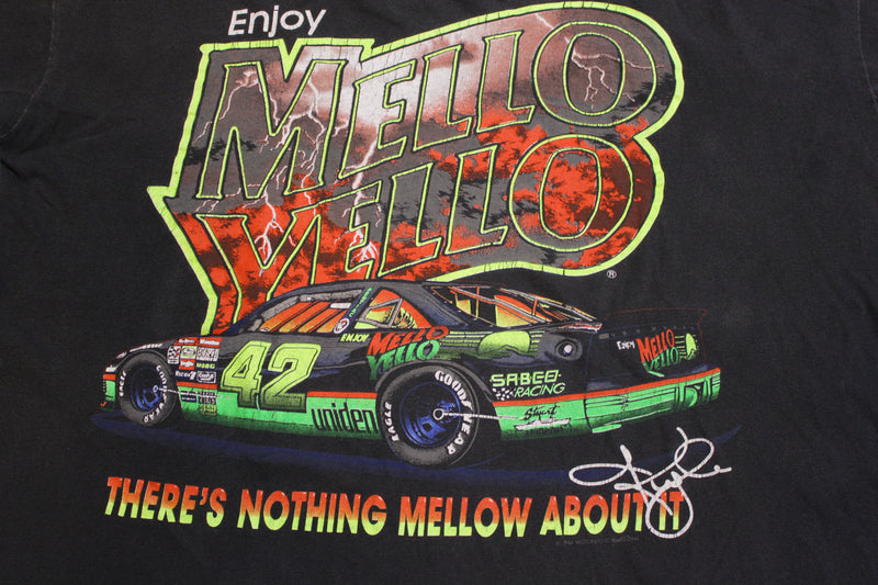 Enjoy Mello Yello Kyle Petty 1992 NASCAR Vintage 90's Single Stitch T-shirt
