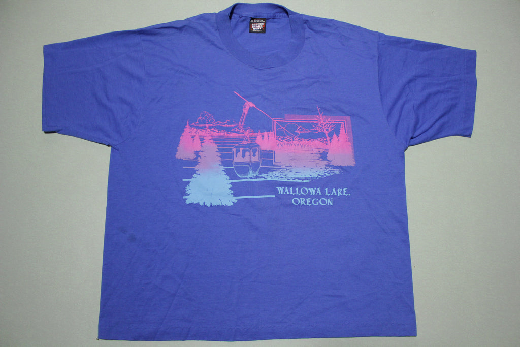 Wallowa Lake Oregon Vintage 90s Screen Stars Single Stitch Tourist T-Shirt