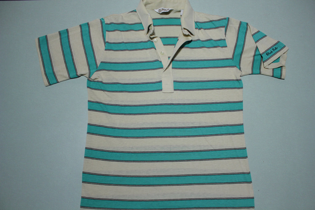 Aureus Vintage Striped Polo Tennis 80's Golf Shirt