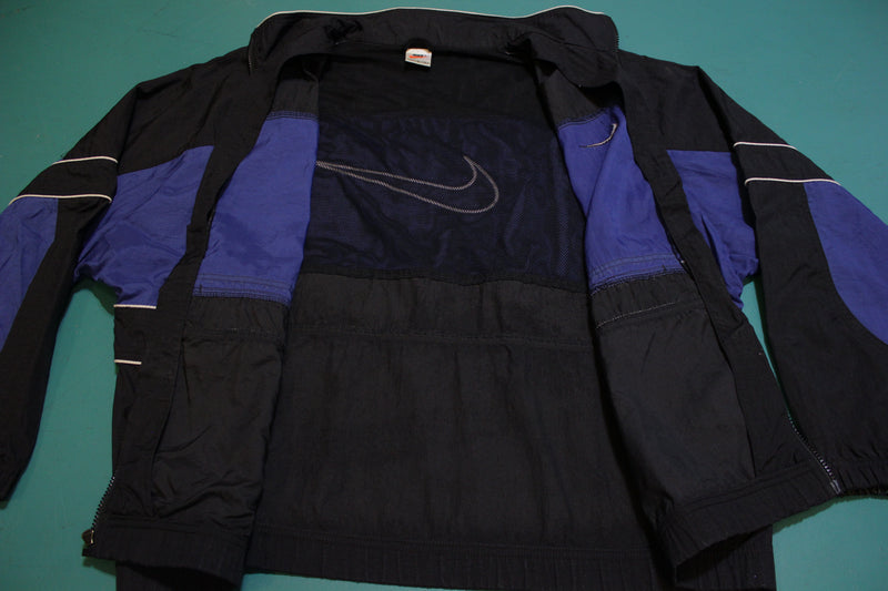 90's Nike Giant Swoosh Colorblock Vintage Distressed Windbreaker