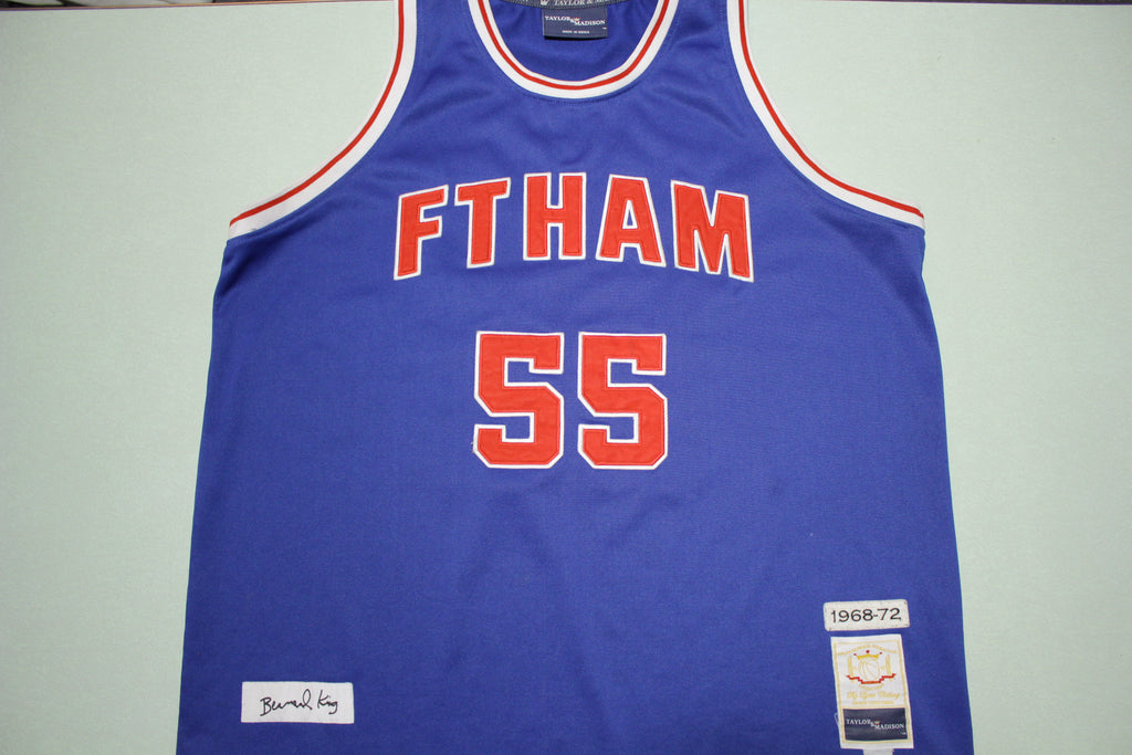 Ftham Bernard King 55 1968-72 Taylor Madison Throwback Jersey