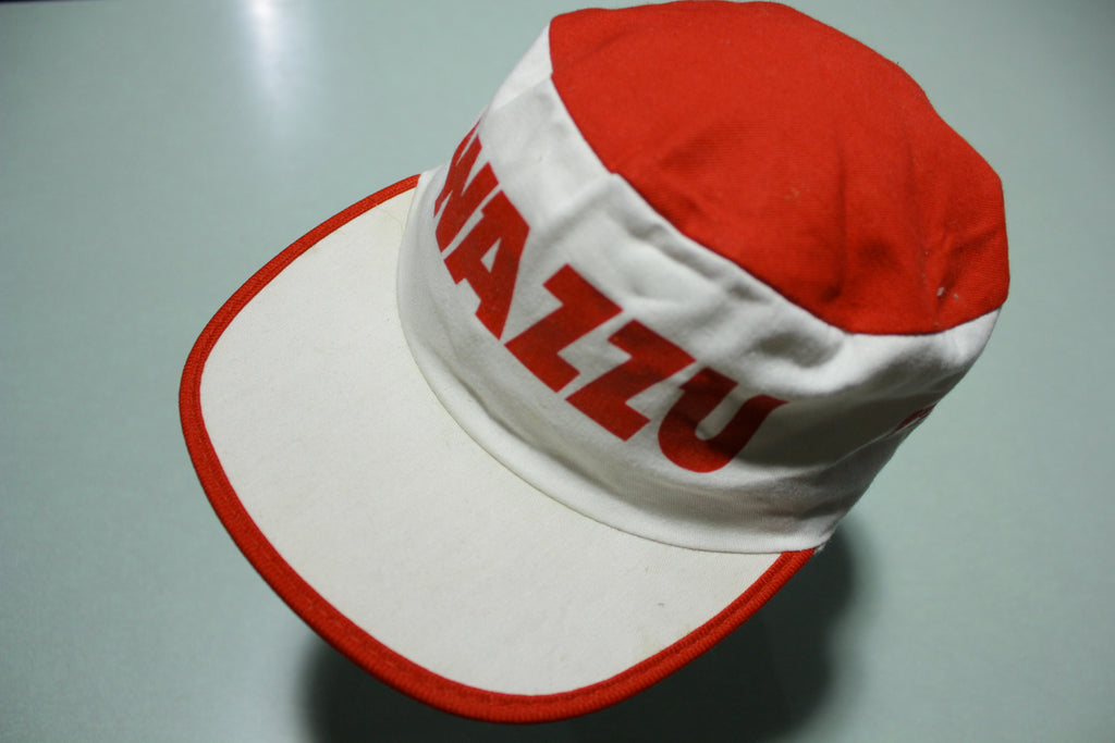 Wazzu Cougs WSU Vintage White 80's Elastic Back Painters Hat Made in USA