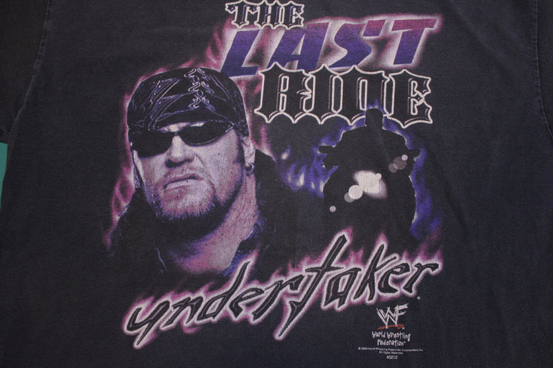The Undertaker The Last Ride Vintage Wrestling WWF 2000 T-shirt