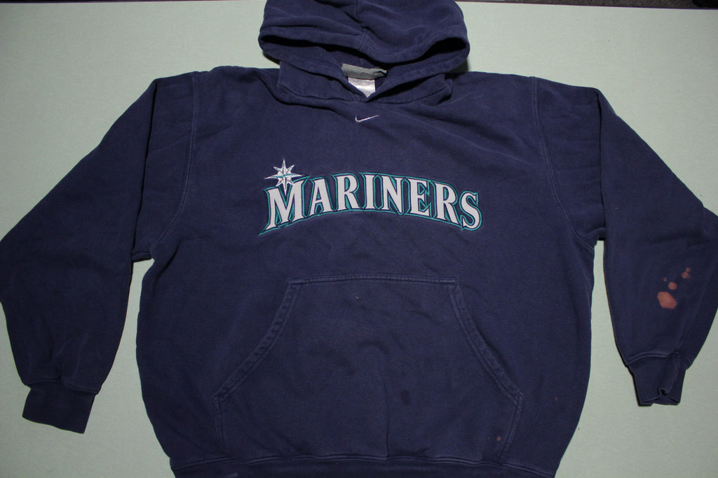 Seattle Mariners Nike Center Swoosh Vintage Hoodie Sweatshirt