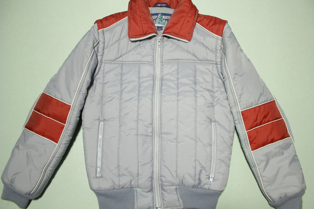 Deep North Vintage 80's Puffer Ski Snow Jacket Vest w/ Removable Sleeves