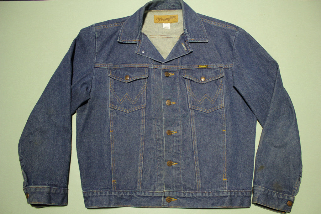 Wrangler Authentic Western Jean Jacket Vintage 80's Denim Coat