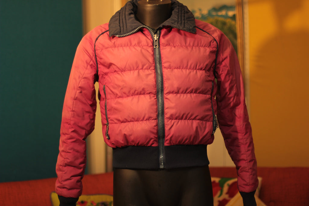 1980's Vintage Roffe Ski Jacket. Puffy Ski Wear Made In USA