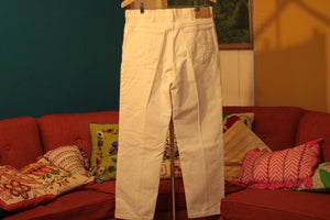 White Lee Jeans 1980's Made In USA 34 Waist.