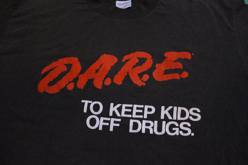Dare To Keep Kids Off Drugs Vintage 80's Single Stitch T-shirt Made in USA