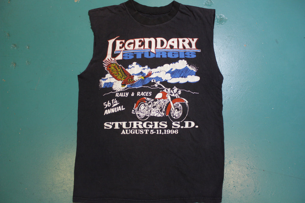 Legendary Sturgis 1996 56th Annual Harley Muscle Shirt Single Stitch 90's