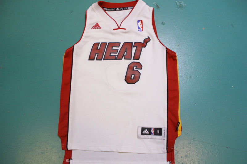 Lebron James Miami Heat #6 White Jersey Youth Size