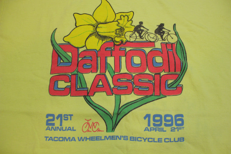 Daffodil Classic 1996 Vintage 90's Tacoma Bicycle Wheelman's Single Stitch T-Shirt