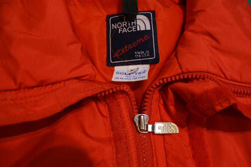 Extreme North Face Vintage 90's Made In USA Puffer Ski Jacket Red Snowboard Coat
