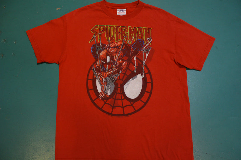 Spiderman Marvel Sparkle Glitter Eyes 2002 Vintage Movie T-Shirt