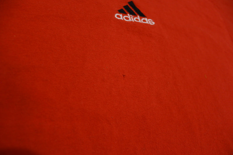 Adidas 90's Made in USA Essential Red Tri-Bar Vintage T-Shirt