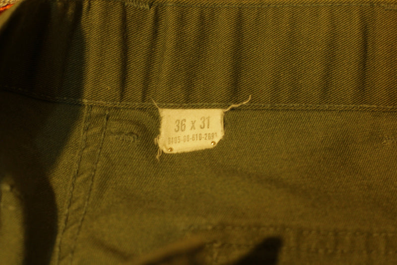 1979 Military Issue OG-507 DLA100 Utility Pants, Fatigues,