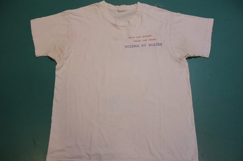Guided by Voices Under the Bushes and Stars Rockathon Records Vintage 90's T-shirt
