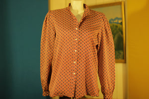 1970's Rare Vintage Levi Strauss Floral Button Up Western Long Sleeve Shirt. Levis Big E