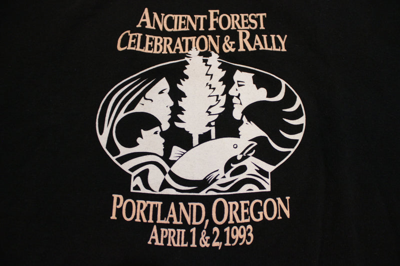 Ancient Forest Rally 1993 Phish Neil Young Kenny Loggins U-Krew Portland OR T-Shirt