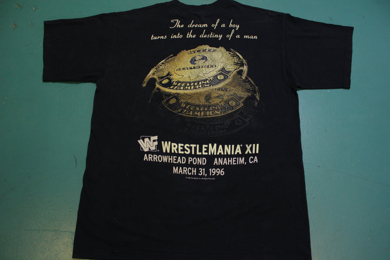 Shawn Michaels The Heartbreak Kid 1996 Vintage Wrestlemania XII Title T-shirt