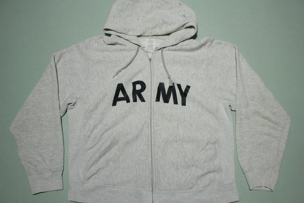 Army 1991 Physical Fitness Big Spellout Lettering Hoodie Sweatshirt