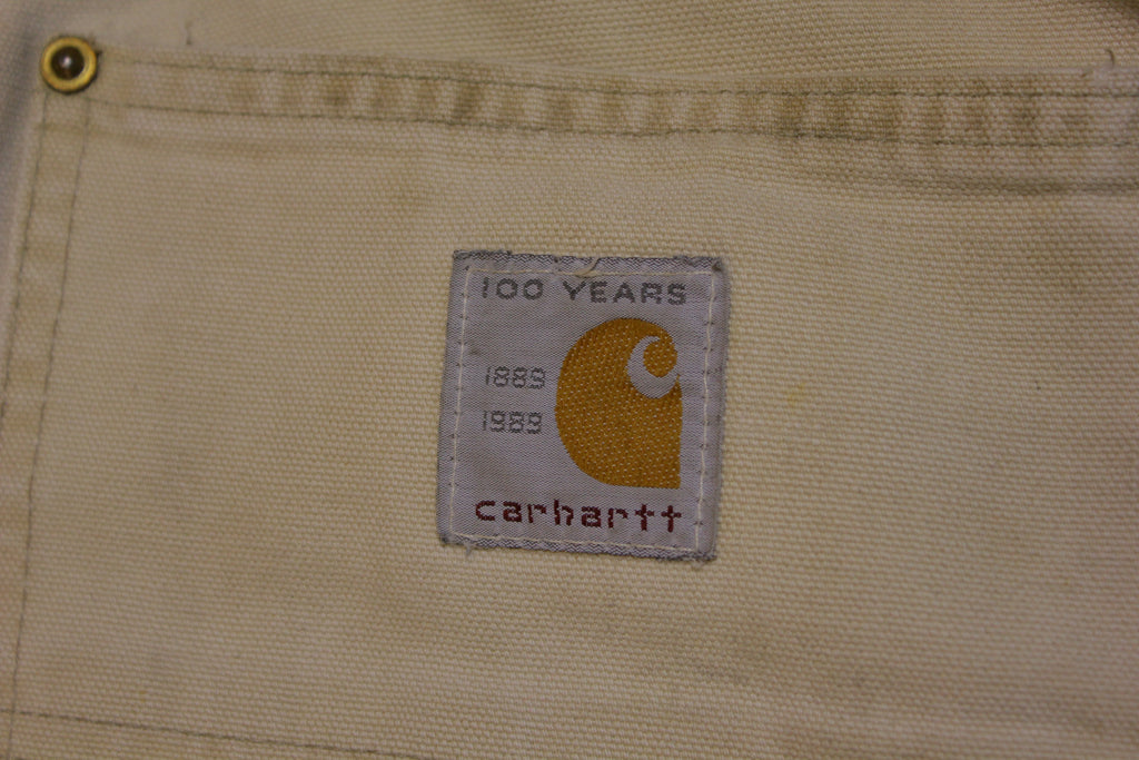 Carhartt 62W BRN Double Knee Front Duck Wash Work Pants Vintage 1989 80's