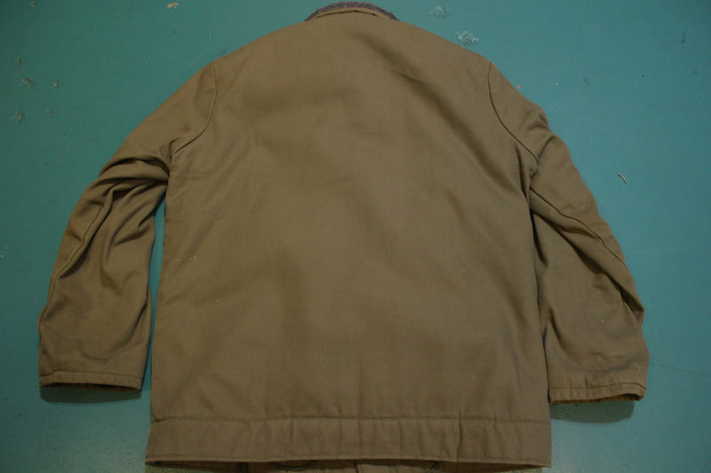 N1-2 Military Deck Jacket US Navy Style Coat size 48 Cold Weather 60s Chin Strap