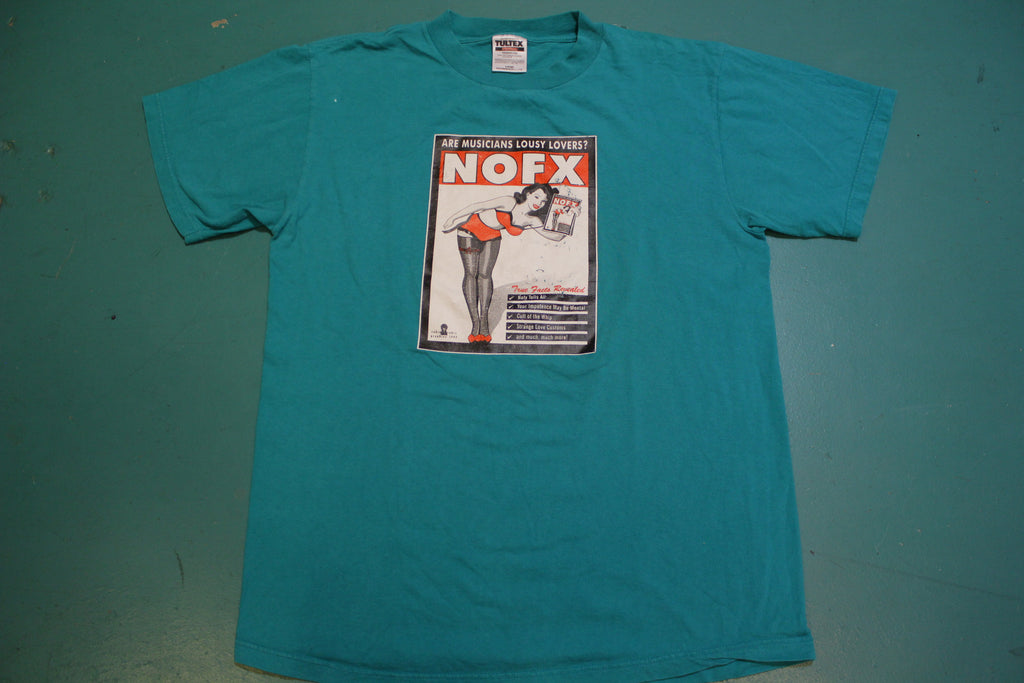 NOFX Saved My Sex Life Vintage 90's 1997 Musicians Lousy Lovers T-Shirt GRAIL