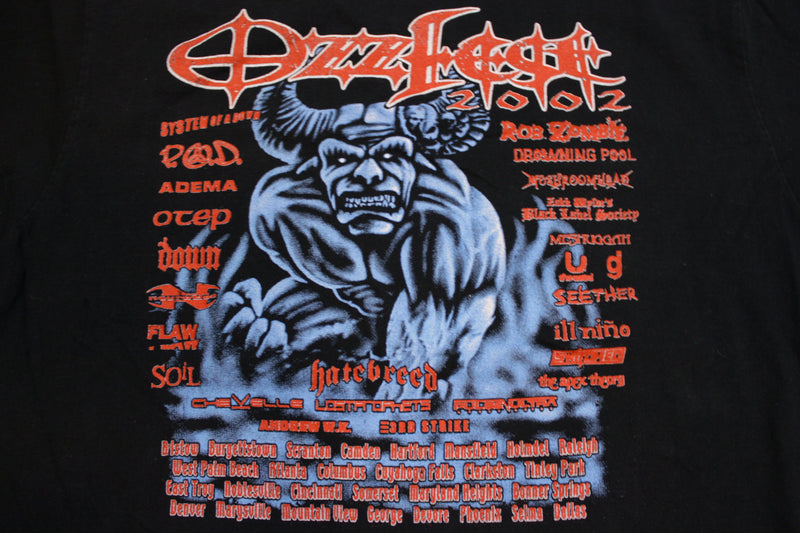Ozzfest 2002 Rob Zombie System of a Down Vintage Graphic Metal T-shirt