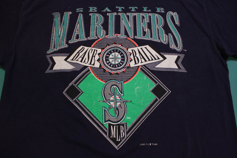 Seattle Mariners Baseball Vintage 1993 Logo 7 USA 90's T-Shirt