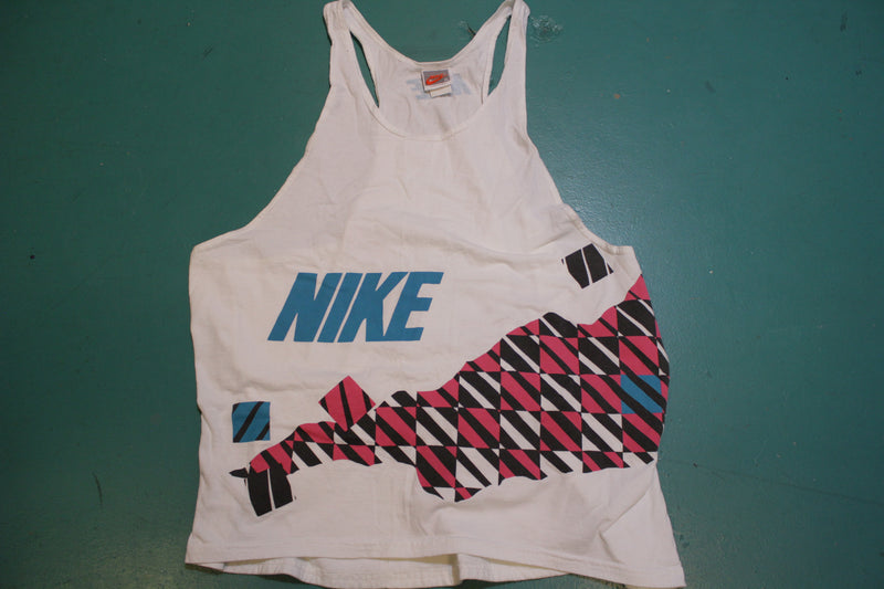 Nike Vintage 80's Gray Tag Tennis Ball Pouch Tank Top Shirt USA Made