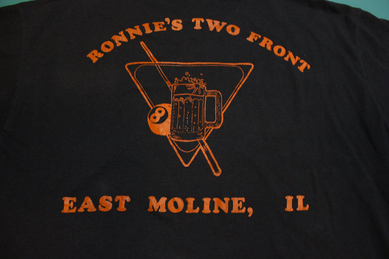 Bald Eagle Ronnies Two Front East Moline Single Stitch Vintage 80's T-Shirt