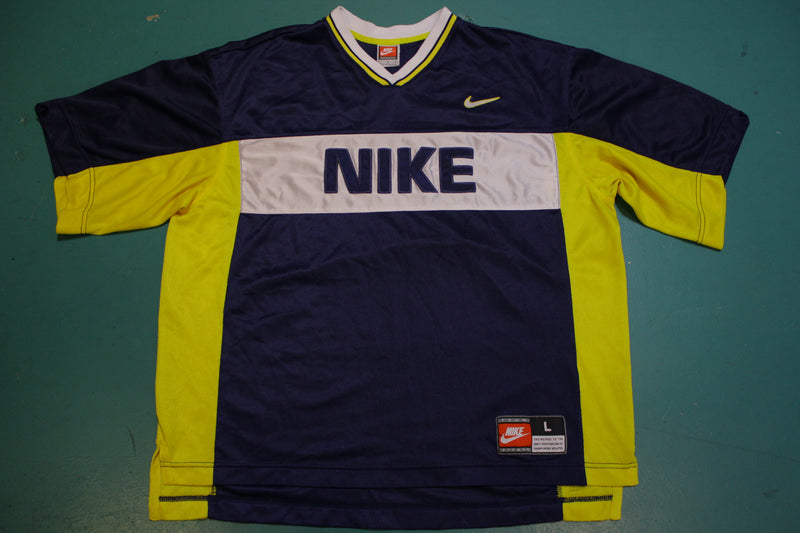 Nike Colorblock Vintage 90's 2000's Blank Sports Jersey Big Spellout