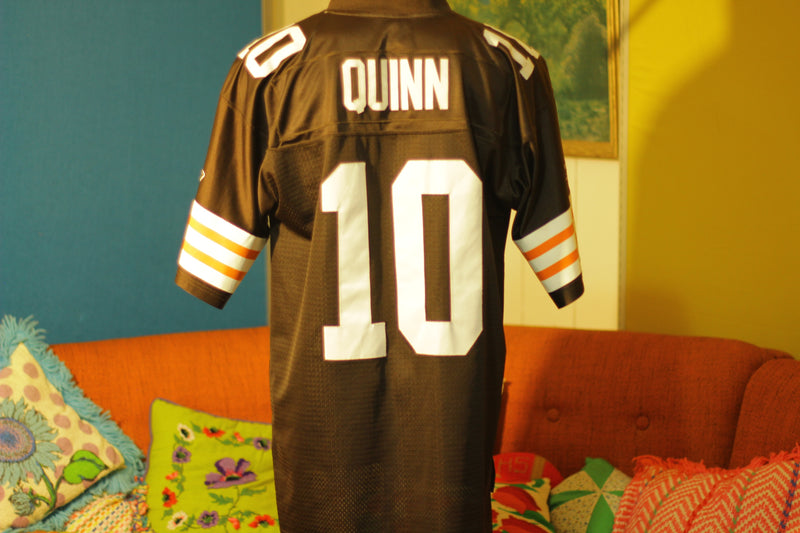 Vintage Cleveland Browns Brady Quinn # 10 QB Jersey Size L Like New