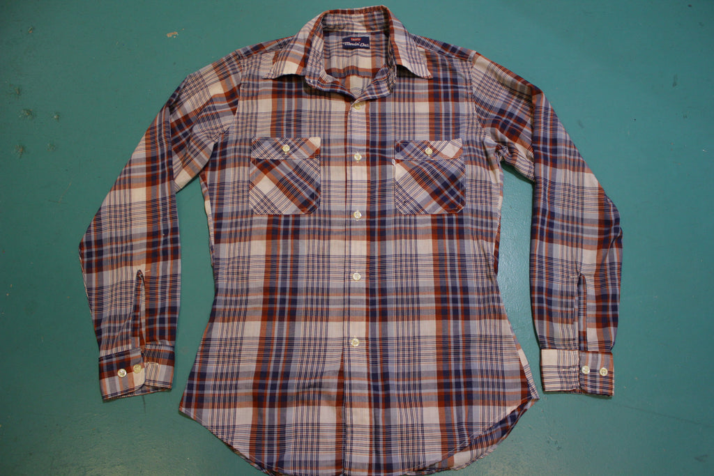 Levis 80's Movin' On Plaid Squared Pocket Vintage Long Sleeve Button Up Shirt