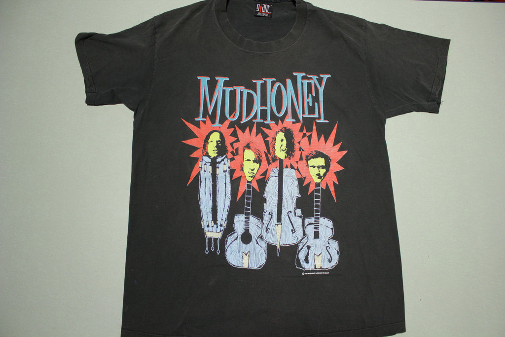 Mudhoney Vintage 1993 Giant Tag USA Single Stitch Grunge Guitar Head T-Shirt