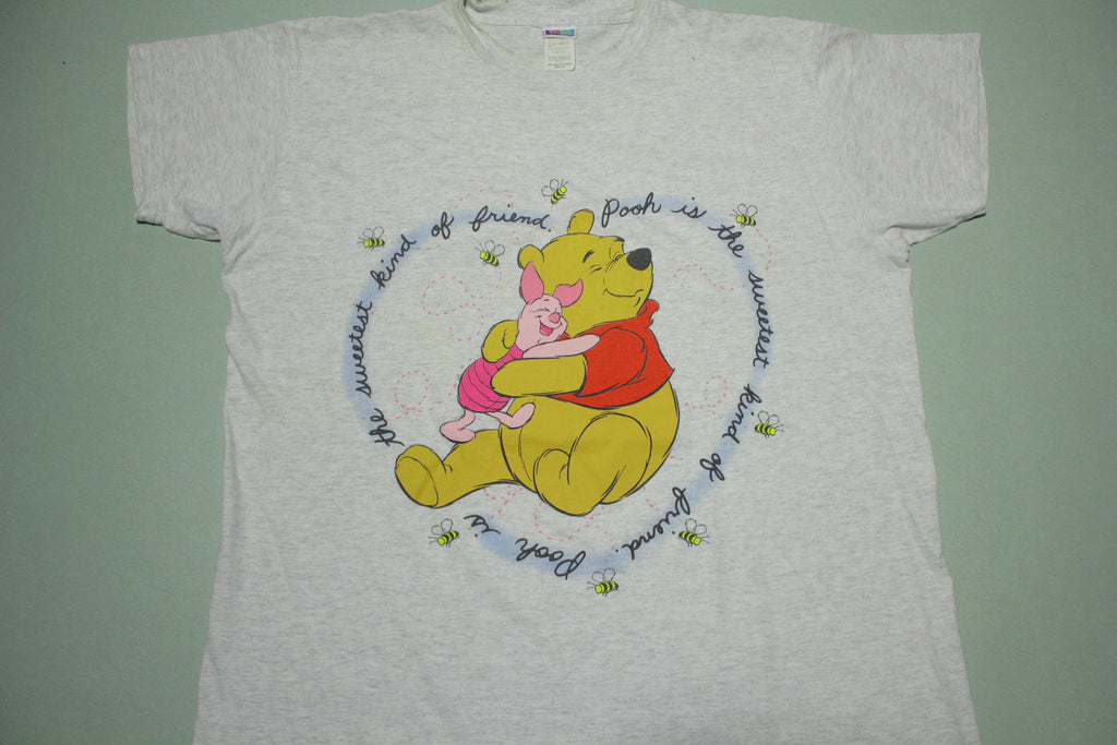 Pooh Piglet Vintage 90's OSFA USA Friends Night T-Shirt