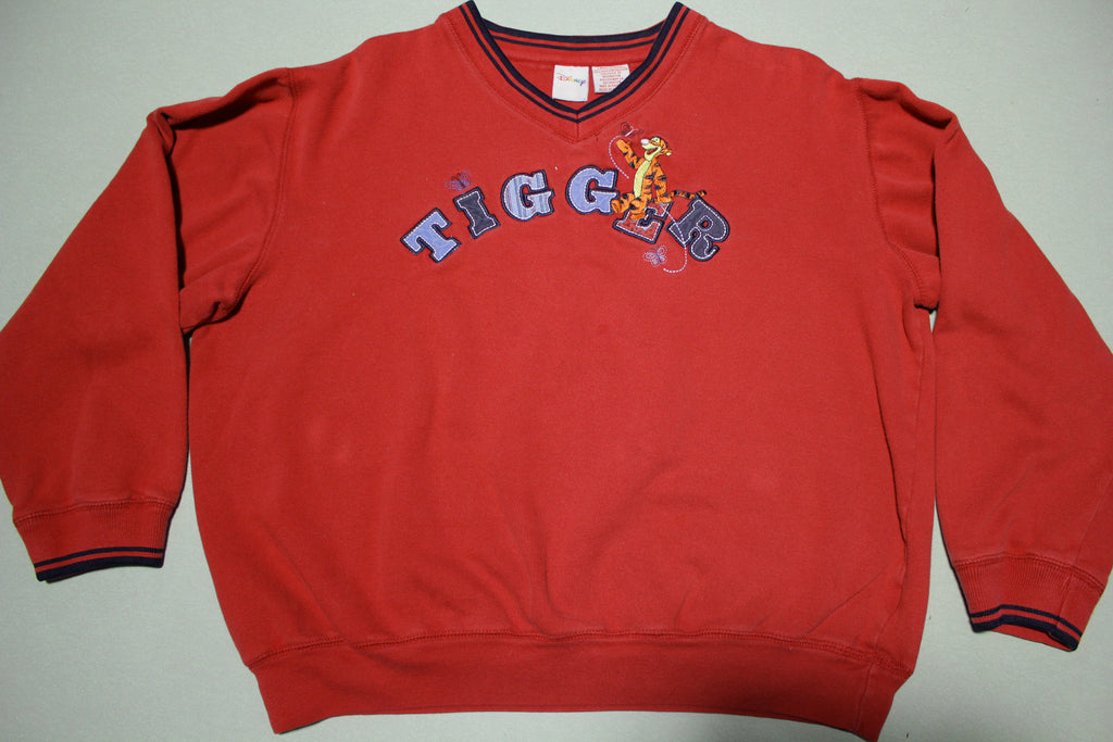 Tigger Disney Pooh Embroidered Sewn Patch Vintage 90's Crewneck Sweatshirt