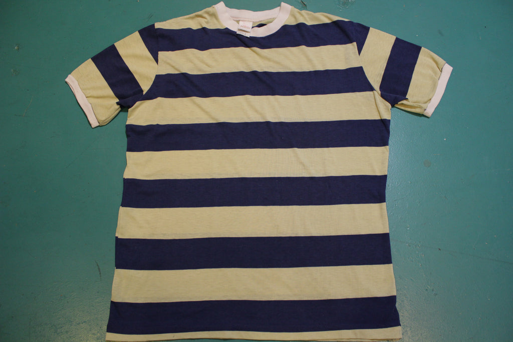 Jantzen Made In USA Vintage 70's Striped Mod T-Shirt