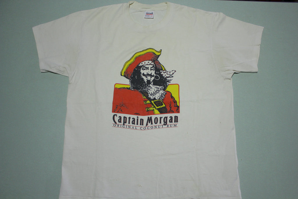 Captain Morgan Original Coconut Rum Vintage 90's Anvil USA T-Shirt