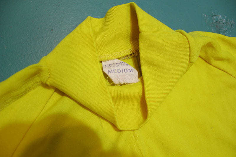 Champion 1960's Very Rare Yellow West Seattle Football Jersey Tall Collar Shirt