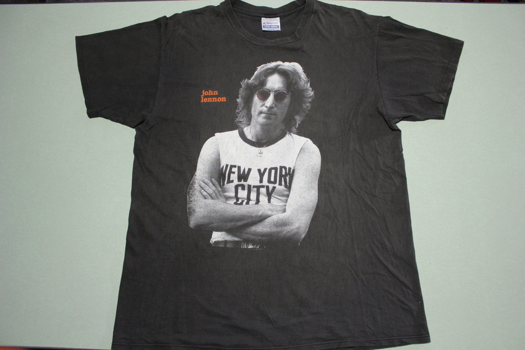 John Lennon NYC Vintage Dated 1991 Bob Gruen Hanes USA T-Shirt